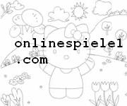 Hello Kitty online coloring page Hello Kitty online spiele